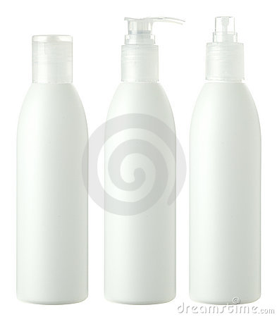 Free Hair Care Bottles Isolated On White Royalty Free Stock Photography - 5837337