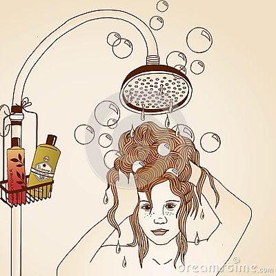 hair care illustration stock vector image 50788067 shower clip art clean shower clip art free