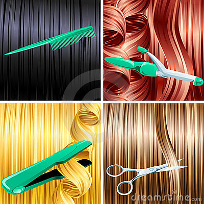 Free Hair Care Panels Royalty Free Stock Photography - 7812097