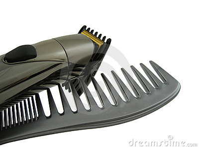 Hair comp and electric clipper