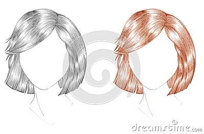 Hair cut sketch