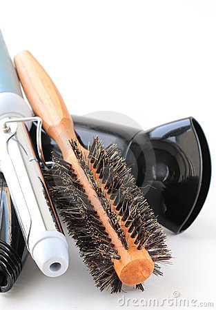 Hair dryer and brush