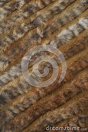 Hair furry woven