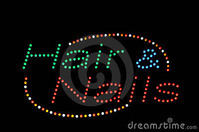 Hair and Nails Neon Sign