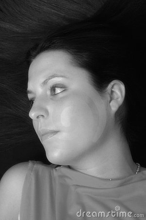 Hair Portrait (Black & White)