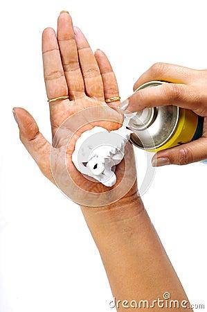 Hair remover foam