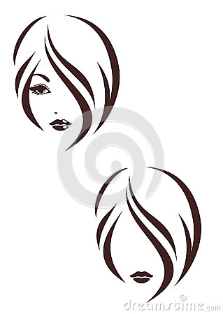Hair stile icon, the girls face