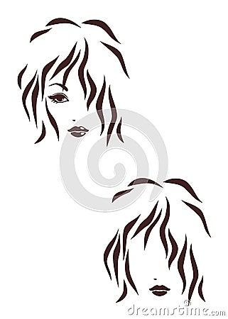 Hair stile icon