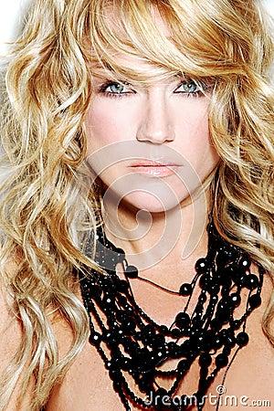 Hair Style Fashion Woman Blond Model Stock Photo Image 3396946