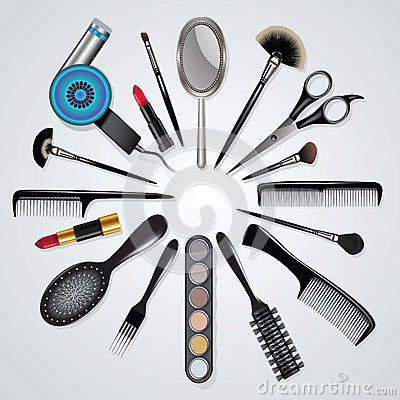 Hair Stylist And Makeup Tools Stock Vector Image 61022807