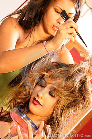 Hair Stylist on Set