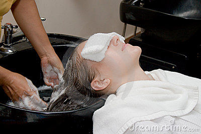 Hair treatment in spa