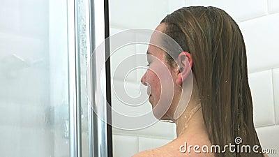 Haircare - washing hair stock video