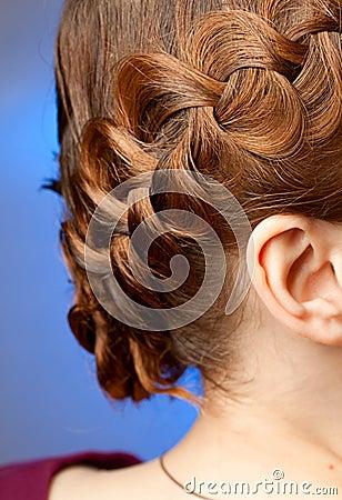 Hairdo con las trenzas