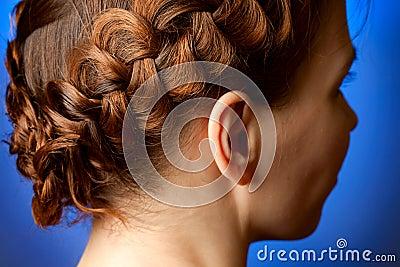 Hairdo with plaits