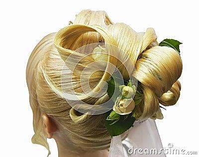 Hairdress bride
