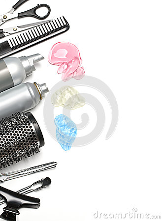 Free Hairdresser Accessories Royalty Free Stock Image - 24711516