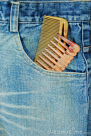 Free Hairdresser Jean With Two Comb Royalty Free Stock Images - 18338029