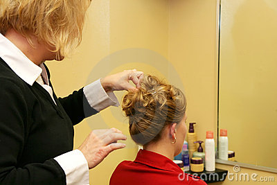 Hairdresser Styling Hair Stock Photos - Image: 4318863