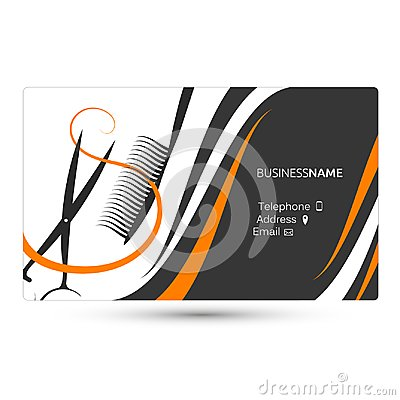 Free Hairdressing Salon Business Card Stock Photos - 108187693