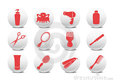 Hairdressing salon buttons