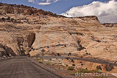 Hairpin Turn on Utah Highway