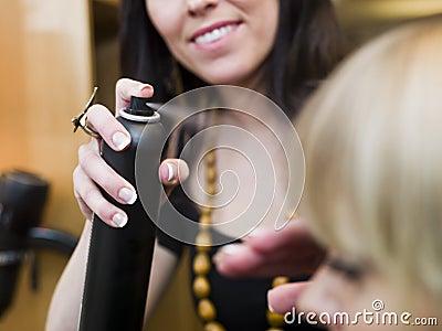 Hairspray close-up