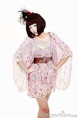 κορίτσι μόδας hairstyle συμπαθητ&io