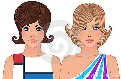 Hairstyle and makeup of 1960-1970