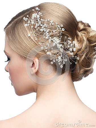 Free Hairstyle With Hair Accessory Stock Photography - 37085162