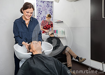 Image result for washing a customer's hair without a license.