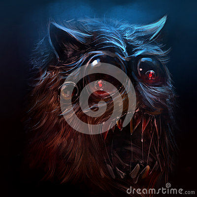 Free Hairy Monster Illustration. Royalty Free Stock Photo - 54651695