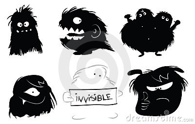Hairy monsters icons