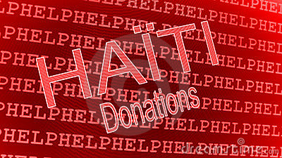 Haiti Help - Donations Editorial Stock Photo