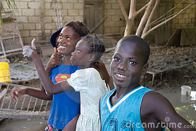 Haitian Youth Editorial Stock Photo