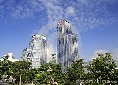 Haitou group building from low angle view Editorial Photography