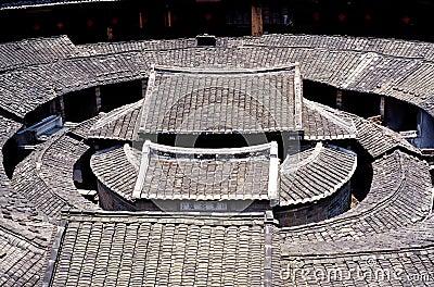Hakka Earth Building in China Editorial Photo
