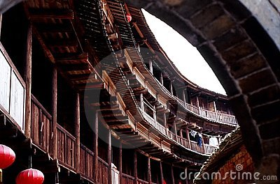 Hakka Earth Building in China 2 Editorial Stock Photo