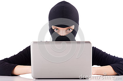 Hakker met computer