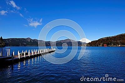 Hakone Lake and Mount Fuji
