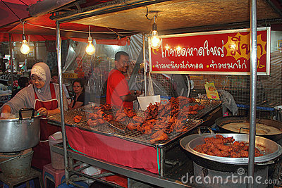 Halal Food Stall at Hat Yai Editorial Photo