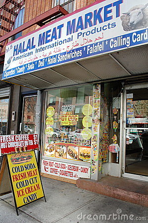 Halal Store in New York City Editorial Photo