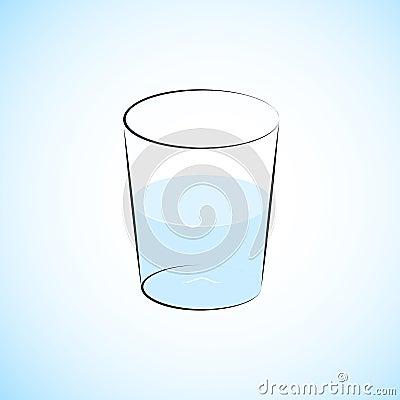 Halb volles Wasser-Glas