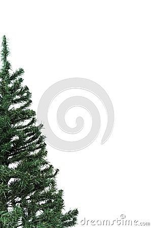 halber weihnachtsbaum mit copyspace stockbilder bild. Black Bedroom Furniture Sets. Home Design Ideas