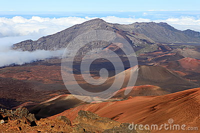 Haleakala Crater on Maui, Hawaii