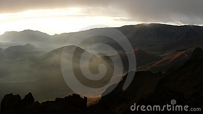 The Haleakala crater, Maui, Hawaii
