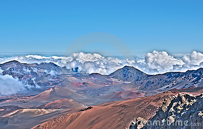 Haleakala Volcano and Crater Maui Island in Hawaii