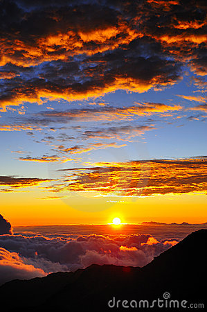 Free Haleakala Volcano Sunset Stock Photo - 11868670