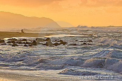 Haleiwa Oahu Sunset Stock Images - Image: 22632914