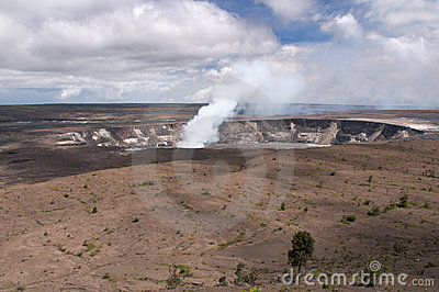 Halemaumau Crater of Kilaeua volcano, Hawaii